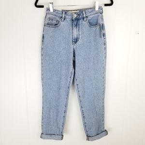 PACSUN Womens Mom Jeans Light Wash Denim Megan